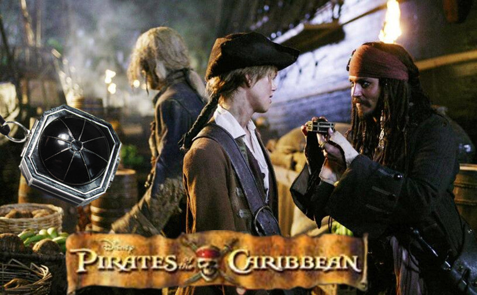 Pirates of the Caribbean Compass Necklace (New Style)