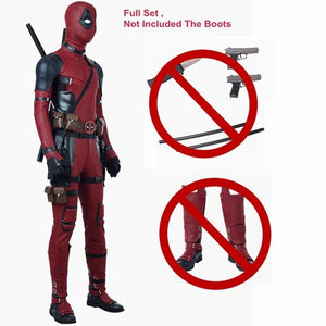Open image in slideshow, Newest Deadpool 2 Deadpool Cosplay Costume Wade Wilson Costume Red Deadpool PU Leather Cosplay Jumpsuit