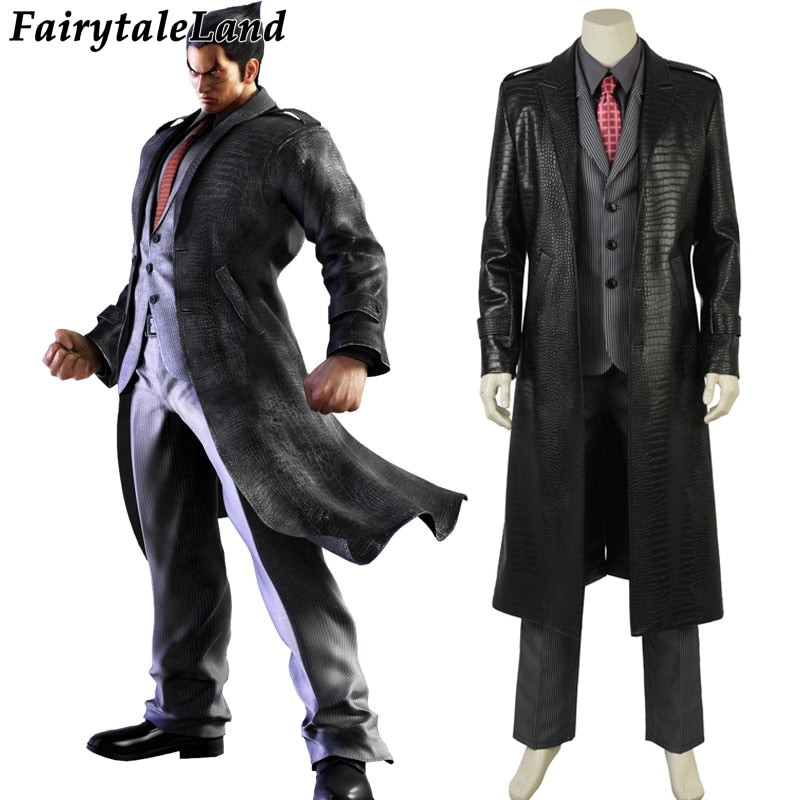 Tekken 7 Kazuya Mishima  Cosplay Costume Hot Game Halloween Costume Tekken Adult Men Mishima kazuya business suits Custom made