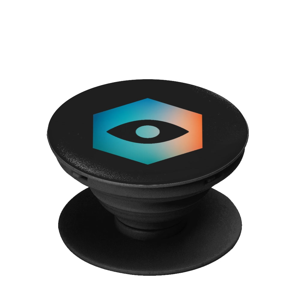 Black Collapsible Grip & Stand for Phones & Tablets - Insomnia Eye (Colored)