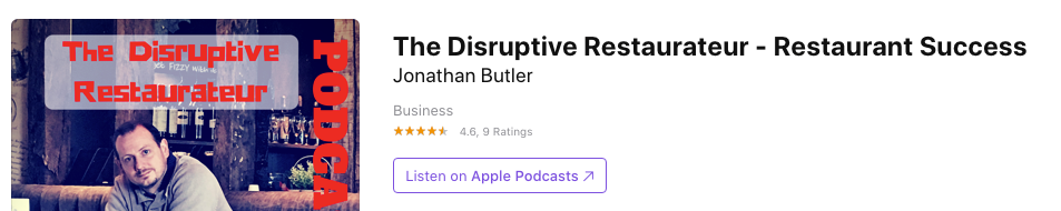 Where to find the disruptive restauranteur podcast
