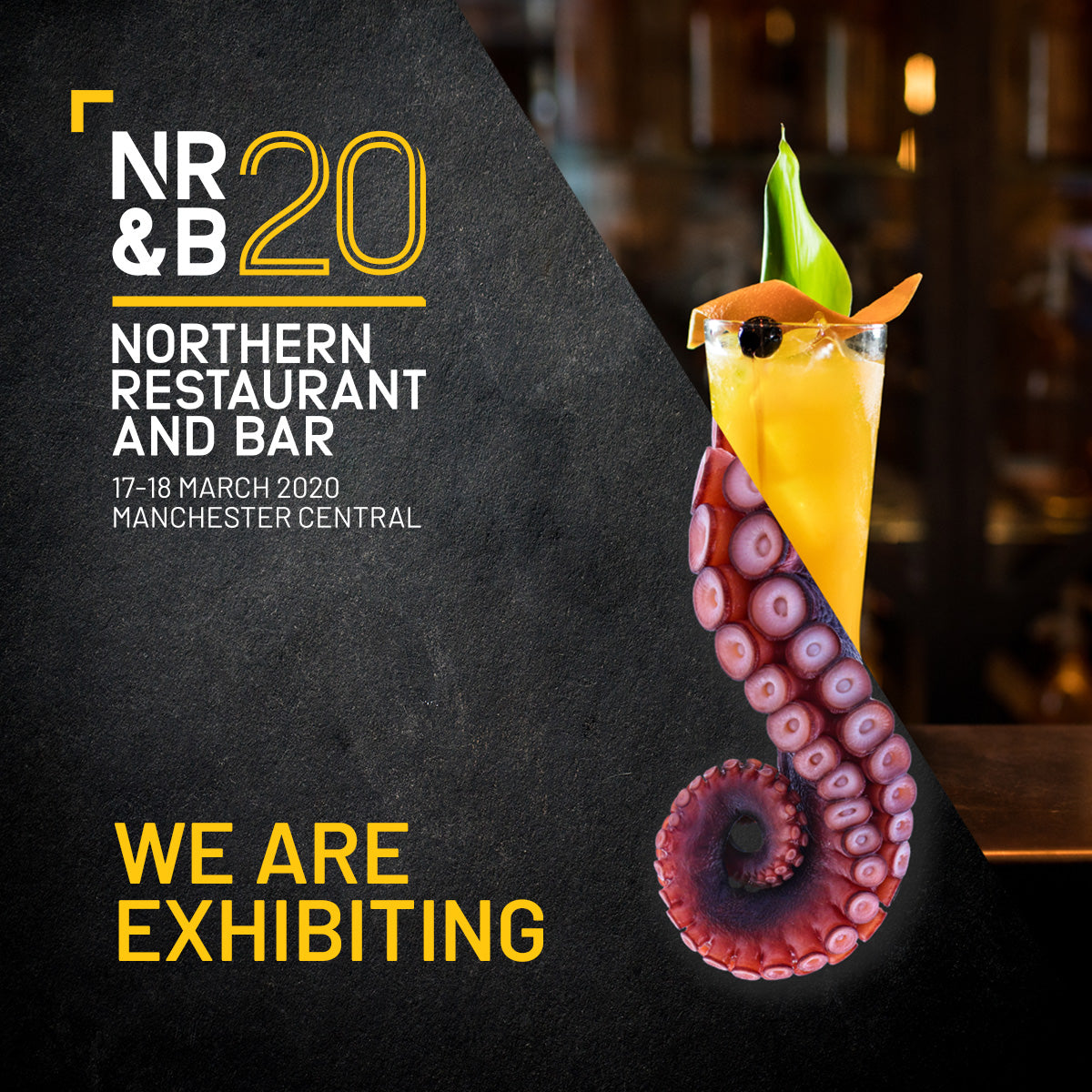 We are exhibiting at the Northern Restaurant and Bar in March