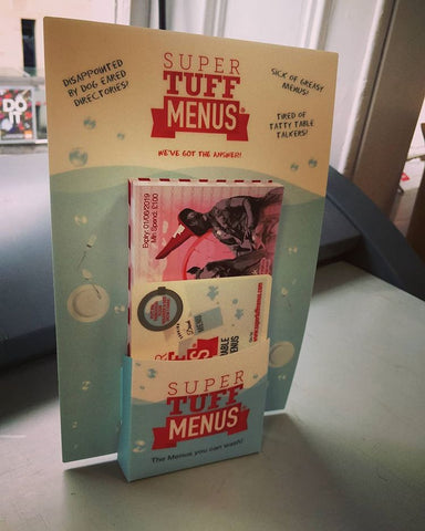 SuperTuffMenu Leaflet dispenser