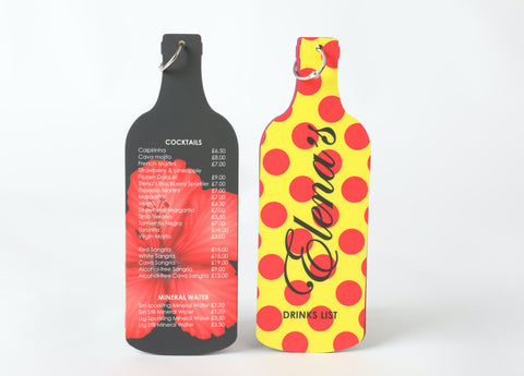 Two Bottle Shaped SuperTuffMenus