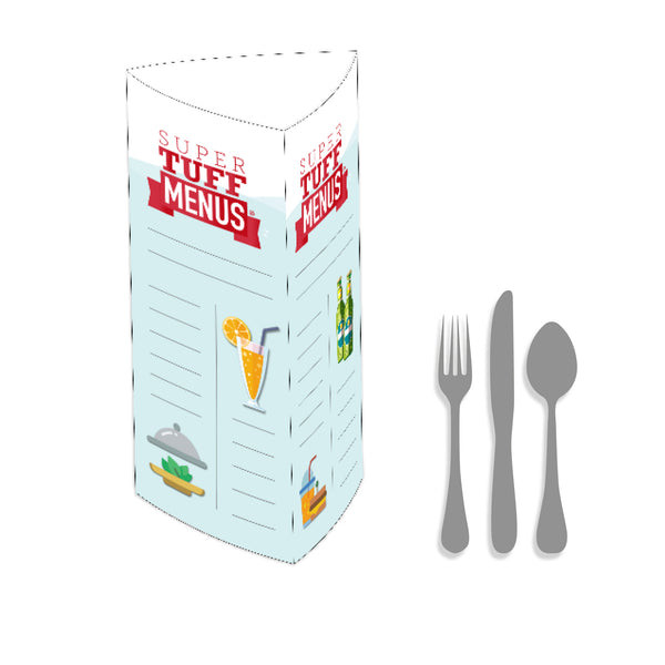 3 Sided Table Talker - Large Example Menu