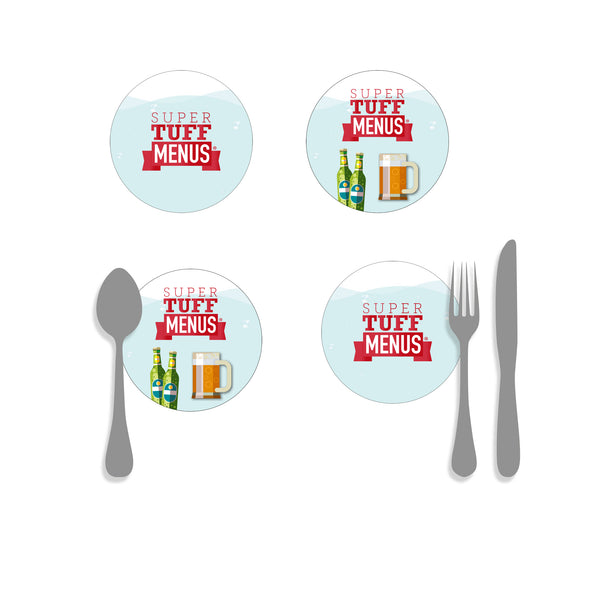Coasters, Beer Mats - Round Example Menu