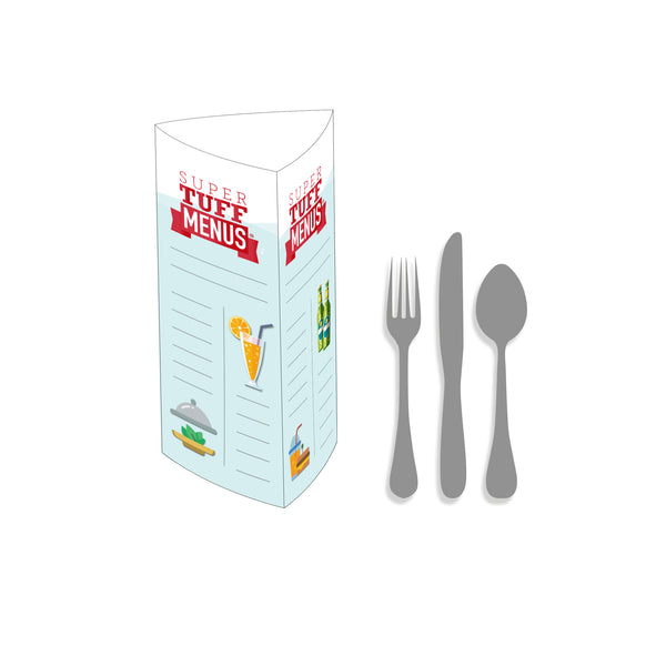 3 Sided Table Talker - Standard Example Menu