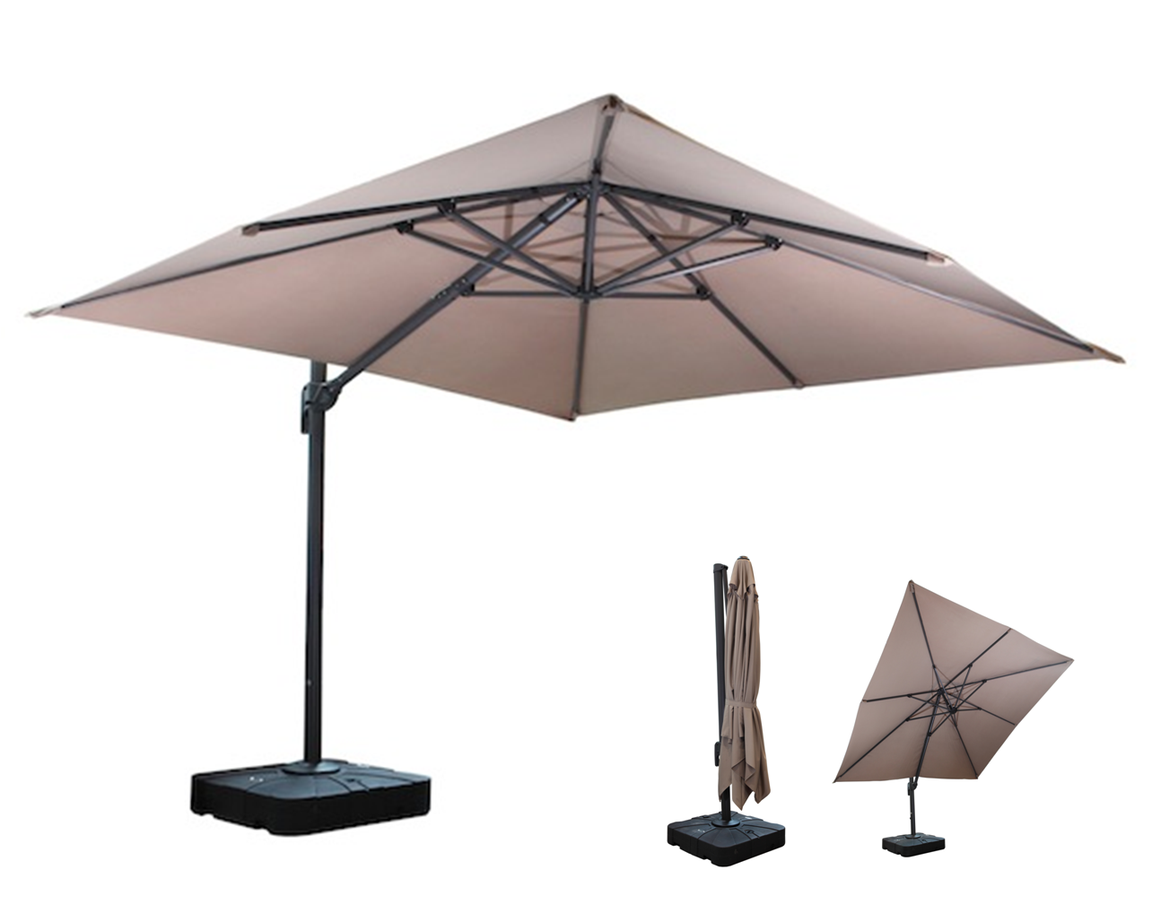 jarder side pole parasol boulevard outdoor inspirations. Black Bedroom Furniture Sets. Home Design Ideas