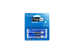 Chap-Ice Moisture Lip Balm with SPF-15, Soothes, Protects and Moisturizes,12 sticks (Moisture-SPF-15