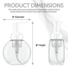 Load image into Gallery viewer, Plastic Foaming Soap Dispenser, White Pump, BPA/Paraben Free - 250mL/8.5fl oz