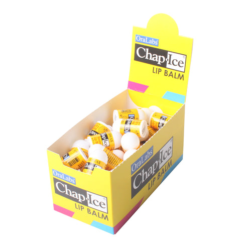 Chap-Ice Beeswax MINI Lip Balm with Display - 50 count