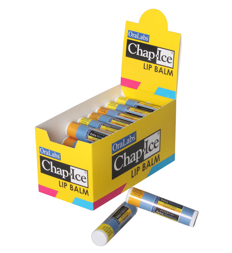 Chap-Ice | Essential Lip Naturals - Lip Balm with Display - Assorted - 32 count