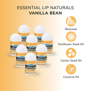 Lip Naturals | Mini Lip Balm - 12 Count [SPF-15] (Vanilla Bean)