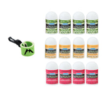 Load image into Gallery viewer, Lip Naturals Mini Lip Balm + 1 Mini Neoprene Sleeve, Lip Balm Holder with Swivel Clip (13 Items)