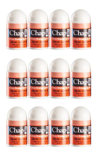 Chap-Ice Mini Lip Balm Bulk - Citrus-Orange - 12 count