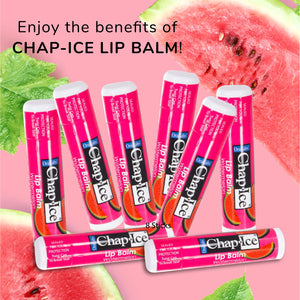 Chap-Ice - Soothes, Protects, Moisturizes - BULK - Watermelon - 8 count