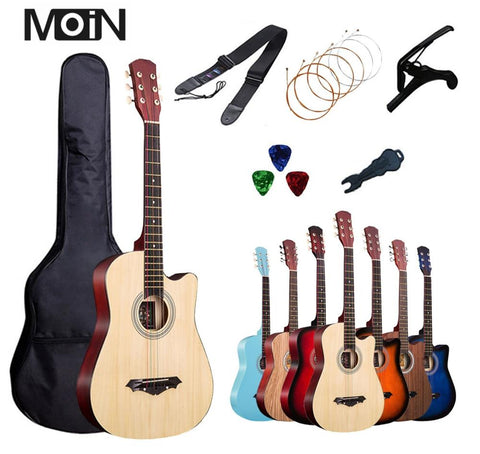 MoiN Beginner's Acoustic Guitar (38 Inch) (Starter Set)
