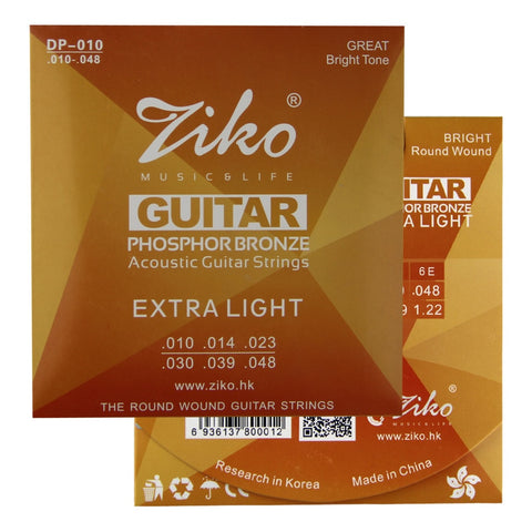 Ziko Acoustic Guitar Strings (Extra Light)