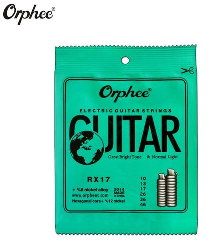 Orphee Electric Guitar Strings Medium/Light/Super-light (10-pack)