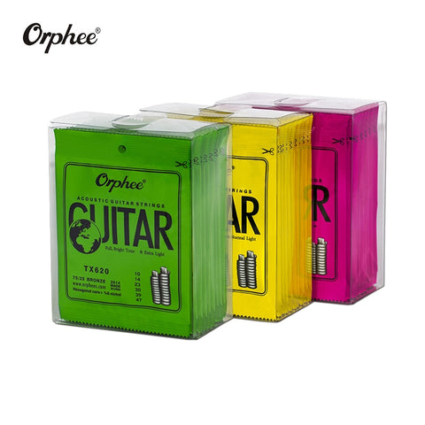Orphee Acoustic Guitar Strings Medium/Light/Extra-Light (10-pack)