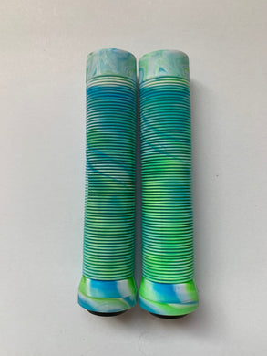 Bar Grips Green/White/Blue 145mm