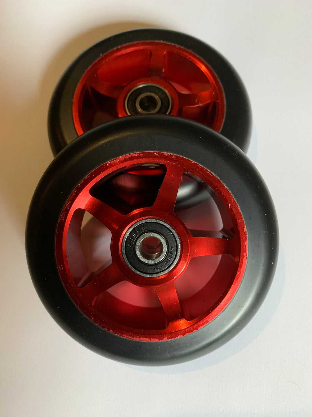100mm Black 88A Hardness PU on Red Metal Core