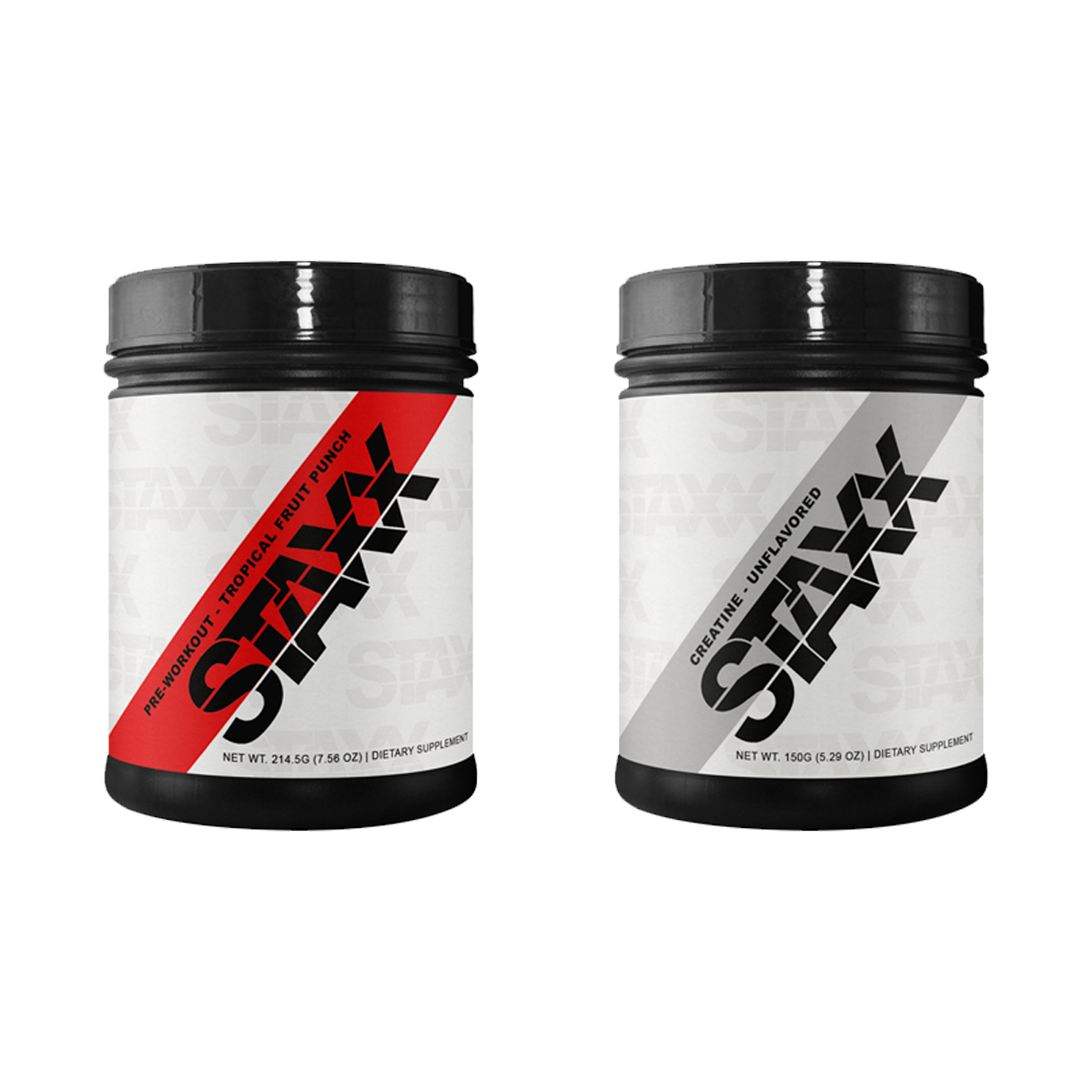 STAXX Pre-workout Fruit Punch Creatine Unflavored