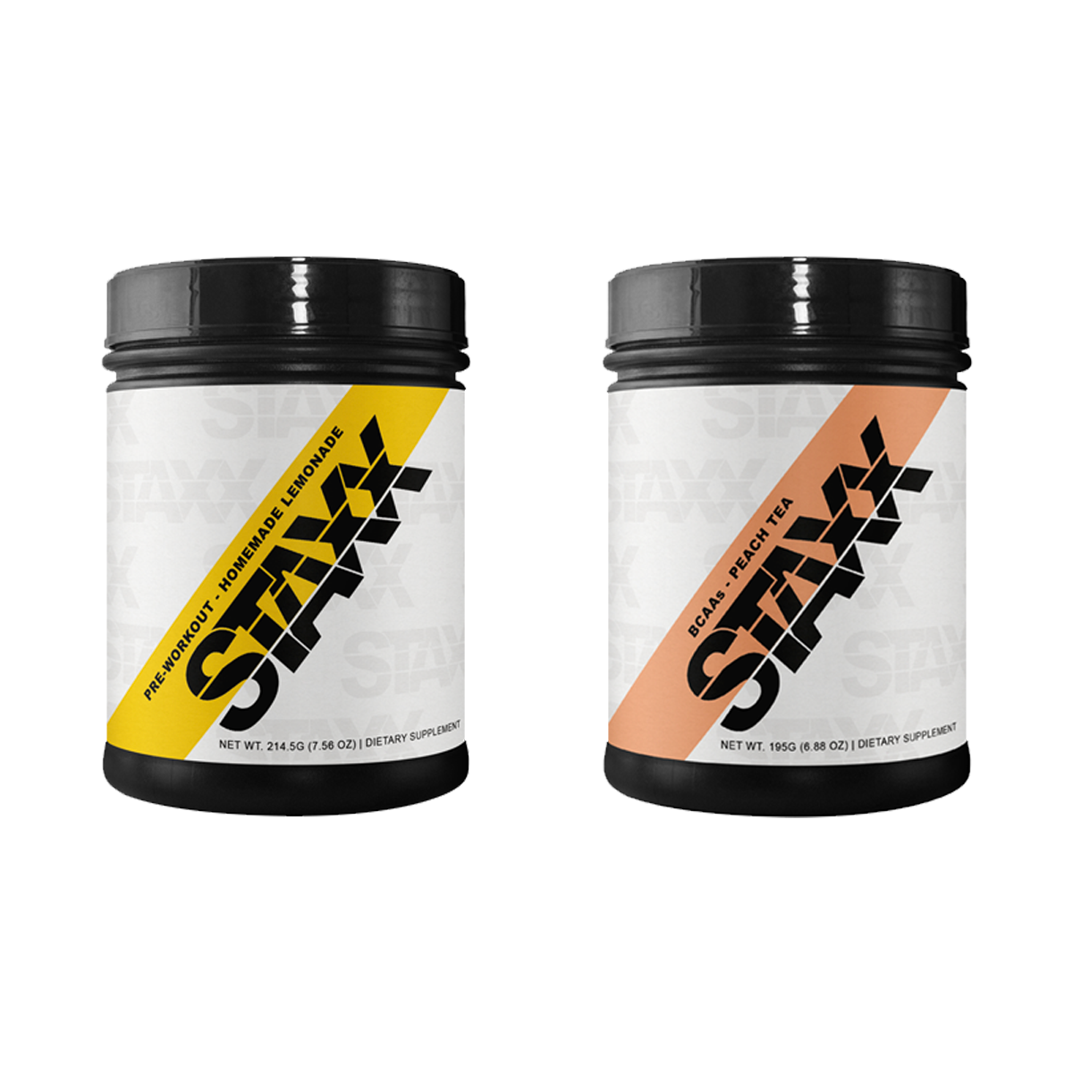 STAXX Pre-workout Lemonade and BCAAs Peach Tea