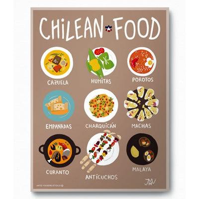 Ilustracion Chilean Food