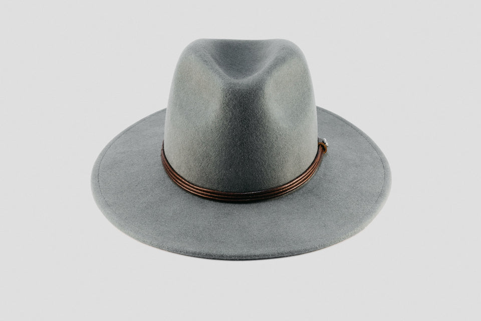 wide brim wool - grey