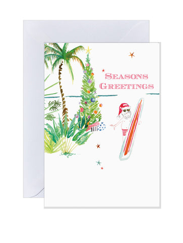 Holiday Cards - Beach Santa