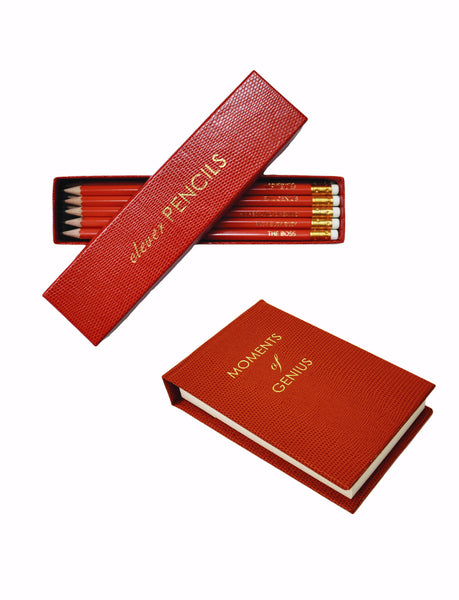 Orange Clever Pencils and Notepad Gift Set