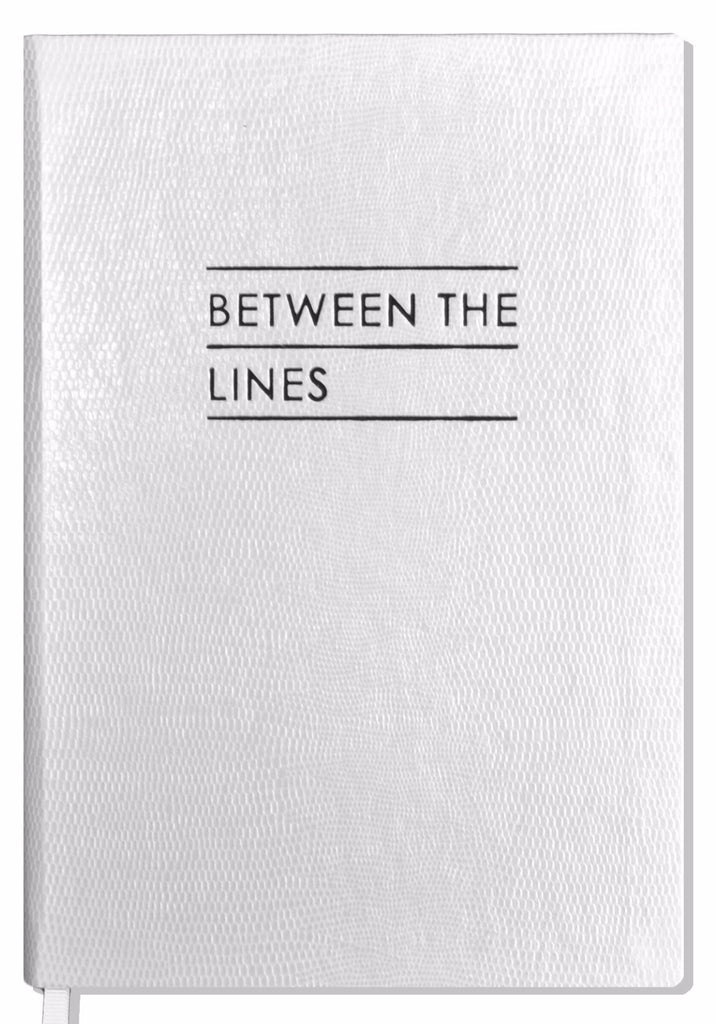 contrast between the lines notebook white sloane stationery