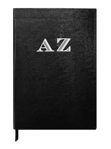 Contrast Monogram Notebook - Black