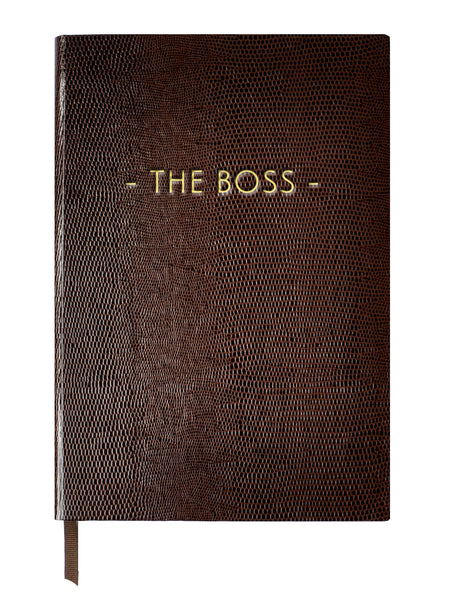THE BOSS - A5 NOTEBOOK Chocolate