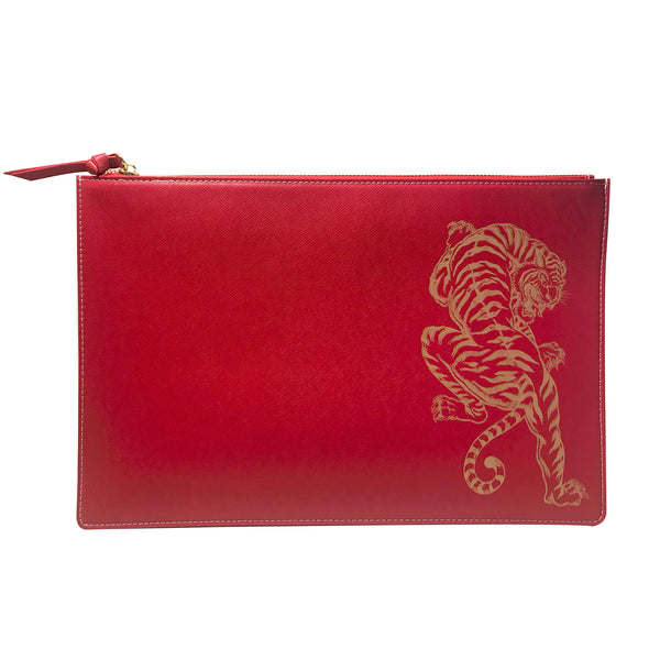 Tiger Stripes Earned - Large Clutch Pouch
