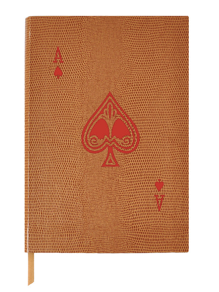 Ace it! Small Cognac Notebook