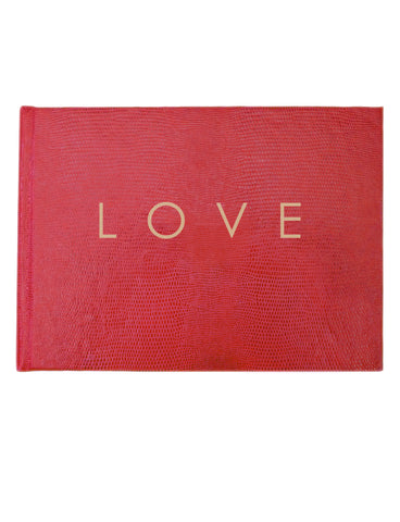 LOVE Wedding Guest Book - Pink