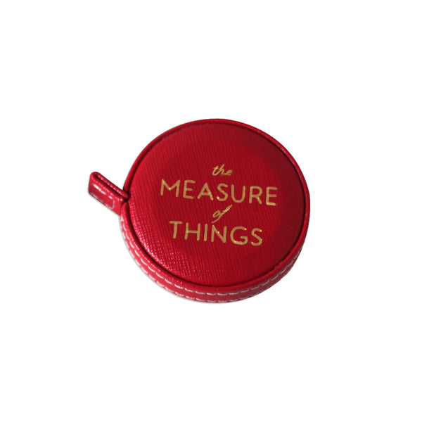 The Measure of Things - Measuring Tape in Red