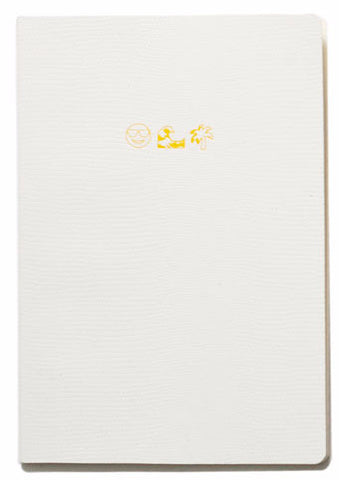 Soft Cover Emoji Range Notebook - Life's A Beach