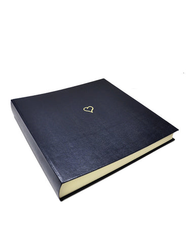 Large Heart Wedding Album Navy