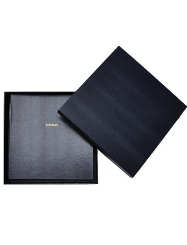 Large Navy Wedding Album in Box