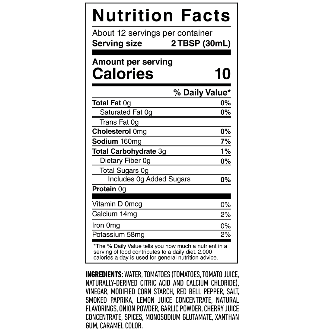Cherrywood Chipotle BBQ - Nutrition Results