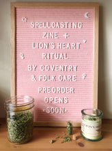Load image into Gallery viewer, Co-Creation | Spellcasting Zine + Lion's Heart Ritual Bundle with Coventry