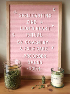 Co-Creation | Spellcasting Zine + Lion's Heart Ritual Bundle with Coventry
