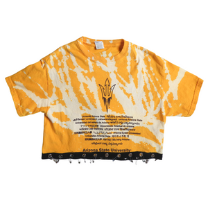 BLEACHED SAFETY PIN TEE