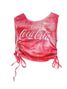 VINTAGE DISTRESSED SODA RUCHED TOP