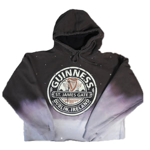 OMBRE-DYED STONED HOODIE