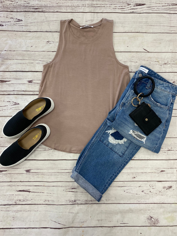 Blush Loose Fit Tank Top