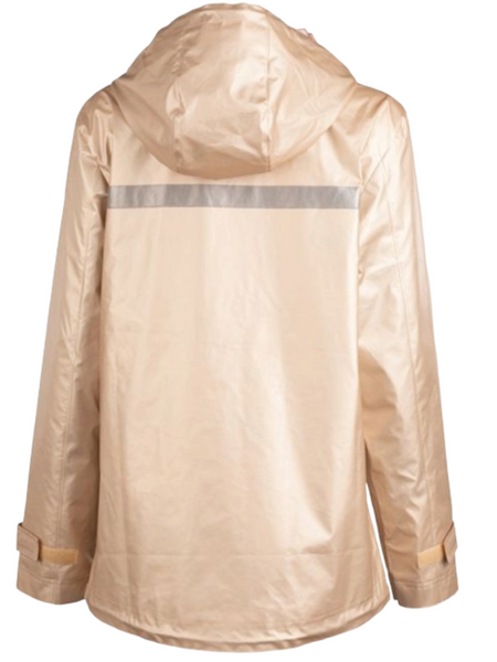 Charles River Champagne Raincoat w/Floral Lining